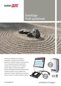 SolarEdge - profil (česky