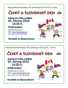 Český a Slovenský den - masaryk memorial institute inc.