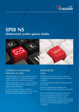 Informační leták SPIS