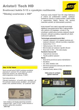 Svařovací kukla ARISTO® TECH HD 5-13