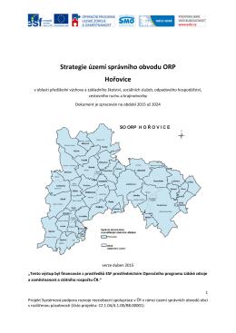 Strategie území správního obvodu ORP Hořovice