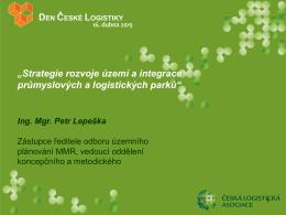 Strategie rozvoje území a integrace průmyslových a logistických parků