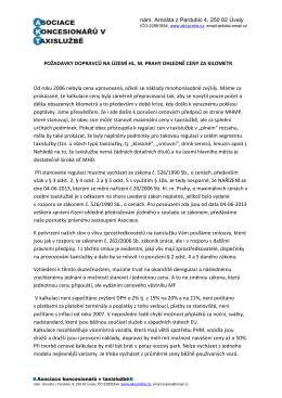 Požadavky dopravců (27.4.2015)
