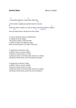 Aceton blues (Blues 12 taktů)