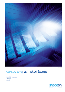 KATALOG vertikální žaluzie SHADEON.cdr