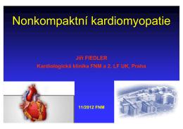 Nonkompaktní kardiomyopatie