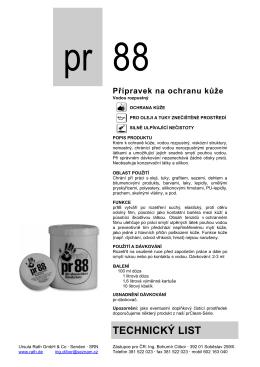 pr88 - Technický list - Ing.Bohumír Ctibor pr88.wz.cz
