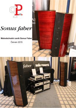 Maloobchodní ceník Sonus Faber