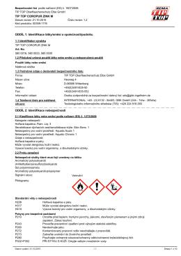 TIP TOP COROPUR ZINK M ODDÍL 1: Identifikace látky/směsi a