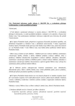 Odpověď podle zákona č. 106-1999 Sb. č.j. SPH 758-2015