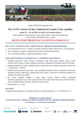 Dny NATO v Ostravě & Dny Vzdušných sil Armády České republiky