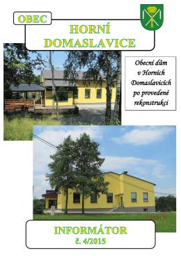 Klub žen Horní Domaslavice, z