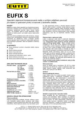technický list EUFIX S (malta)