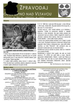 Zpravodaj obce Lipno nad Vltavou07-2015