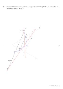 4) V osové afinitě určené osou o , směrem s a