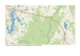 1. Lásenice – směr Číměř, u Nové Vsi (4 km) odbočit doprava na
