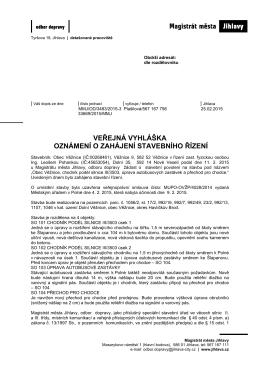 veřejná vyhláška oznámení o zahájení stavebního řízení
