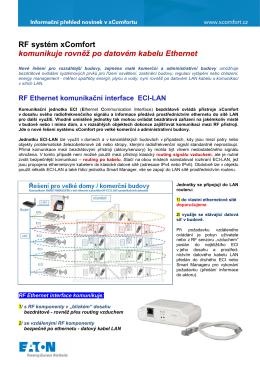 Komunikace RF systému v síti Ethernet