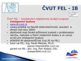 ČVUT FEL - Program Inteligentní budovy