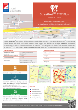StreetNet CITY Plus - Central European Data Agency, a.s.