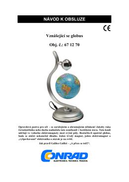 NÁVOD K OBSLUZE Vznášející se globus Obj. č.: 67 12 70