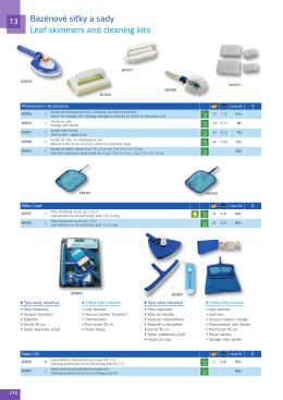 Bazénové síťky a sady Leaf skimmers and cleaning kits