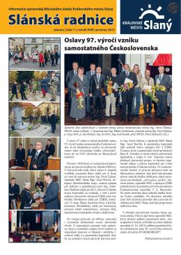 Slánská radnice 11/prosinec 2015