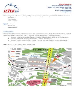 PDF dokument s mapou a popisem cesty