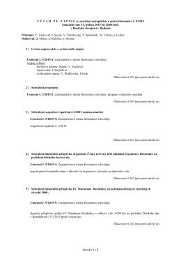 Usnesení ze zasedání zastupitelstva města Hostomice č. 5/2015