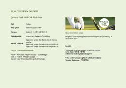 08/09/2015 PRIM GOLF CUP Queen´s Park Golf Club Myštěves