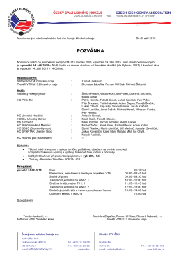 Pozvánka - jednodenní kemp VTM U13 (Uherské Hradiště)