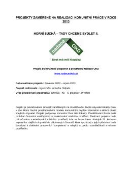 Projekty KP - Projekty 2013