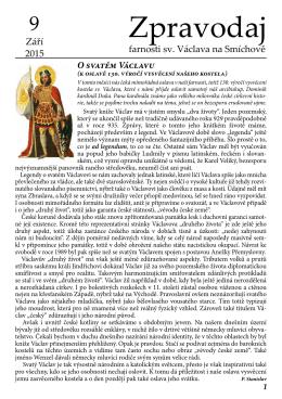 Září 2015 - Římskokatolická farnost u kostela sv. Václava Praha