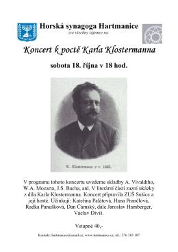 Koncert Klostermann