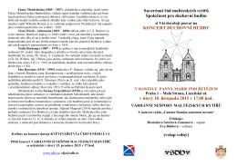 Suverénní řád maltézských rytířů Společnost pro duchovní hudbu