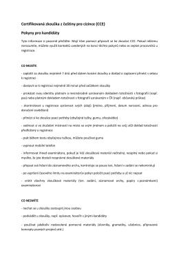 Certifikovaná zkouška z češtiny pro cizince (CCE)