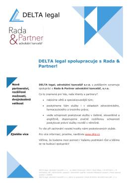 DELTA legal - Czech Marketplace