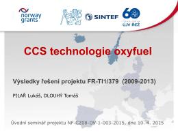CCS – Oxyfuel
