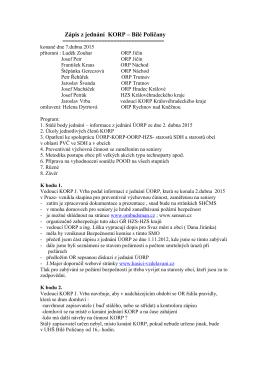 Zápis z jednání KORP 7. 4. 2015