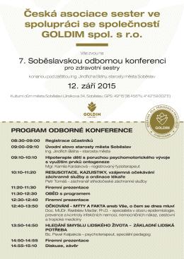 Česká asociace sester ve spolupráci se společností goLdIm spol. s r.o.