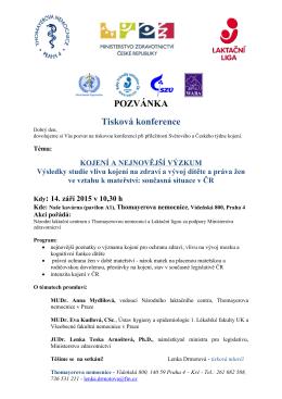 Pozvánka s programem tiskové konference ke stažení v PDF.