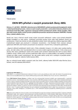 OKIN BPS přivítal v nových prostorách členy ABSL, 17. září 2015