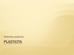PLASTICITA
