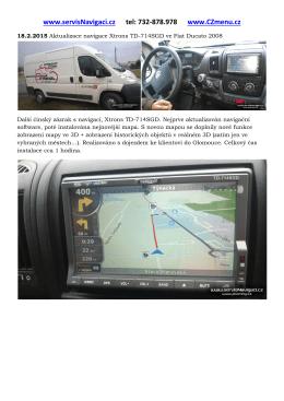 Aktualizace navigace Xtrons TD