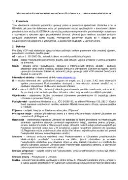 Všeobecné obchodní podmínky (platné od 19. 10. 2015)
