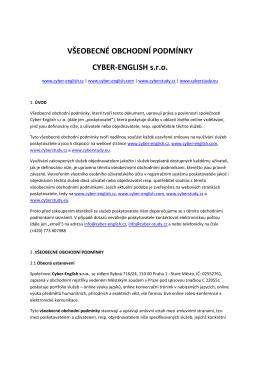 Všeobecné obchodní podmínky - soubor PDF ke - Cyber