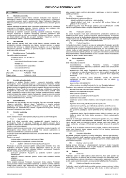 Všeobecné obchodní podmínky ALEF PDF 76,44 KB