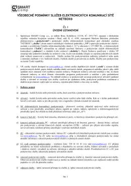 Obchodní podmínky platné od 1.4.2015