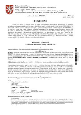 Dražební vyhláška č.j. 103 Ex 19117/15-31
