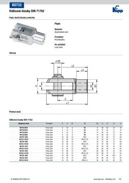 Vidlicové klouby DIN 71752